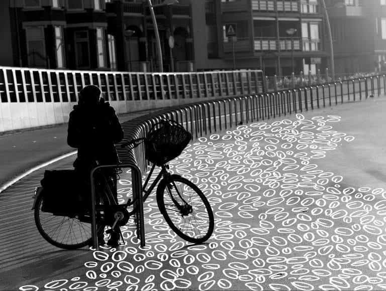 Woman bike racks