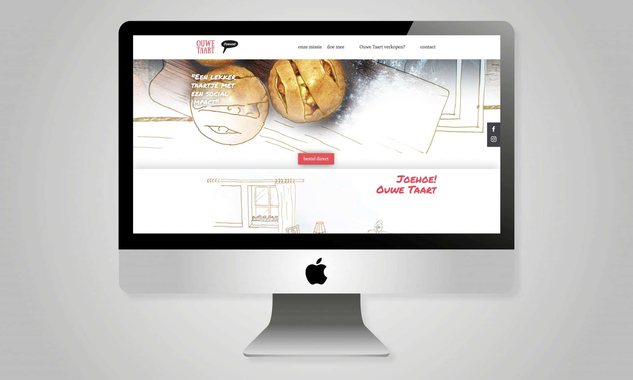 ouwe taart branding web design website