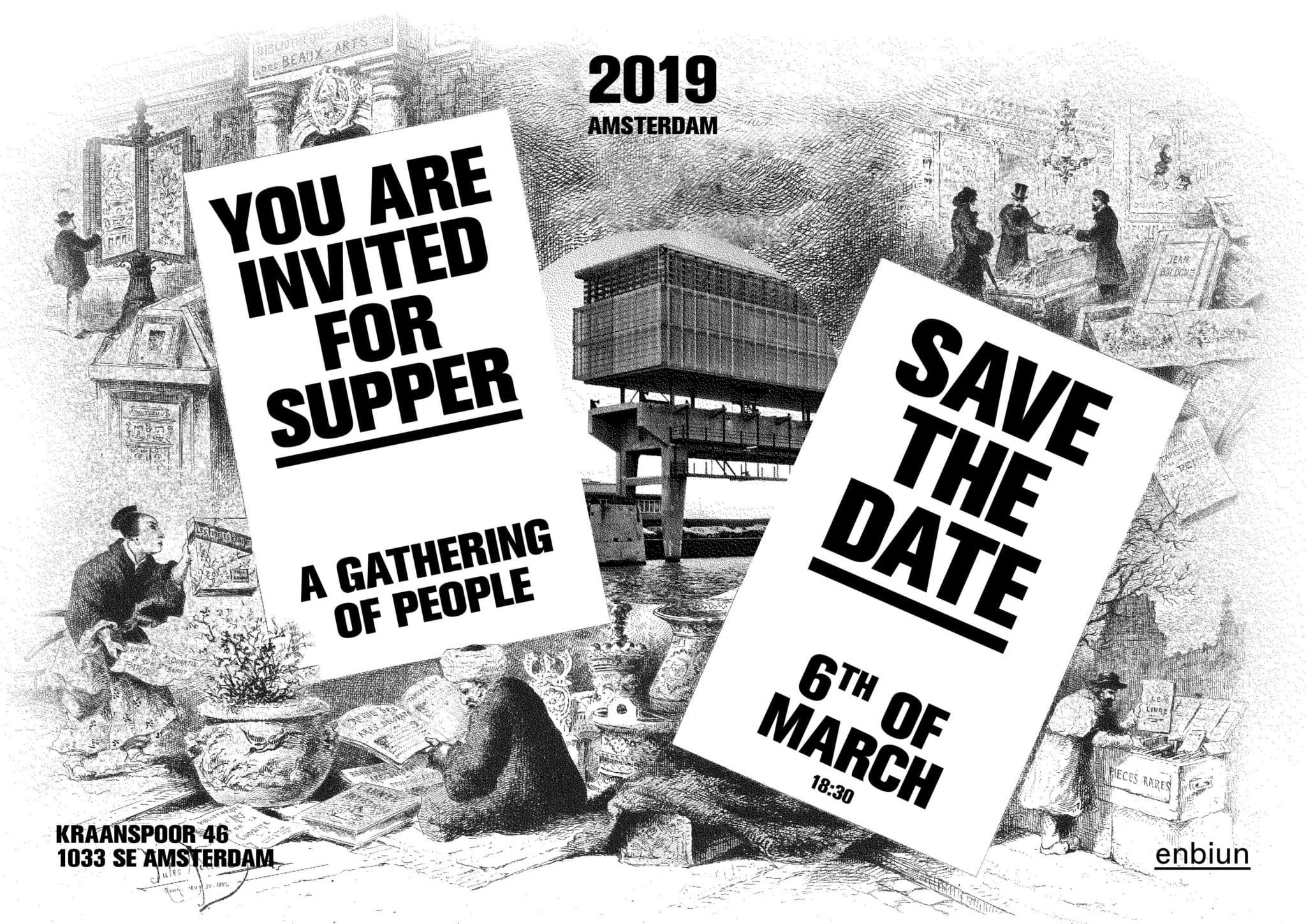 The Enbiun supper invitation for 2019