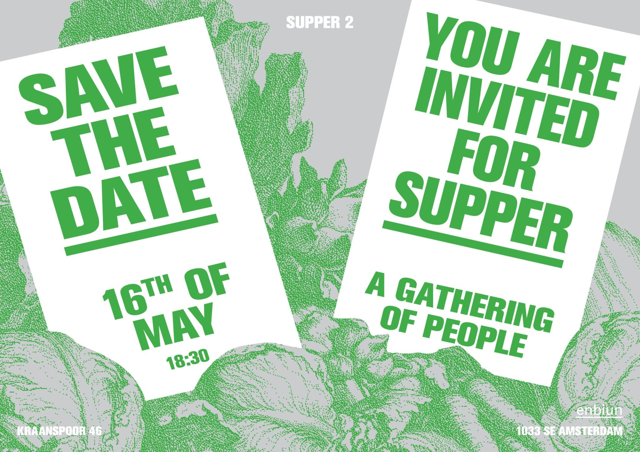 enbiun supper invitation graphic