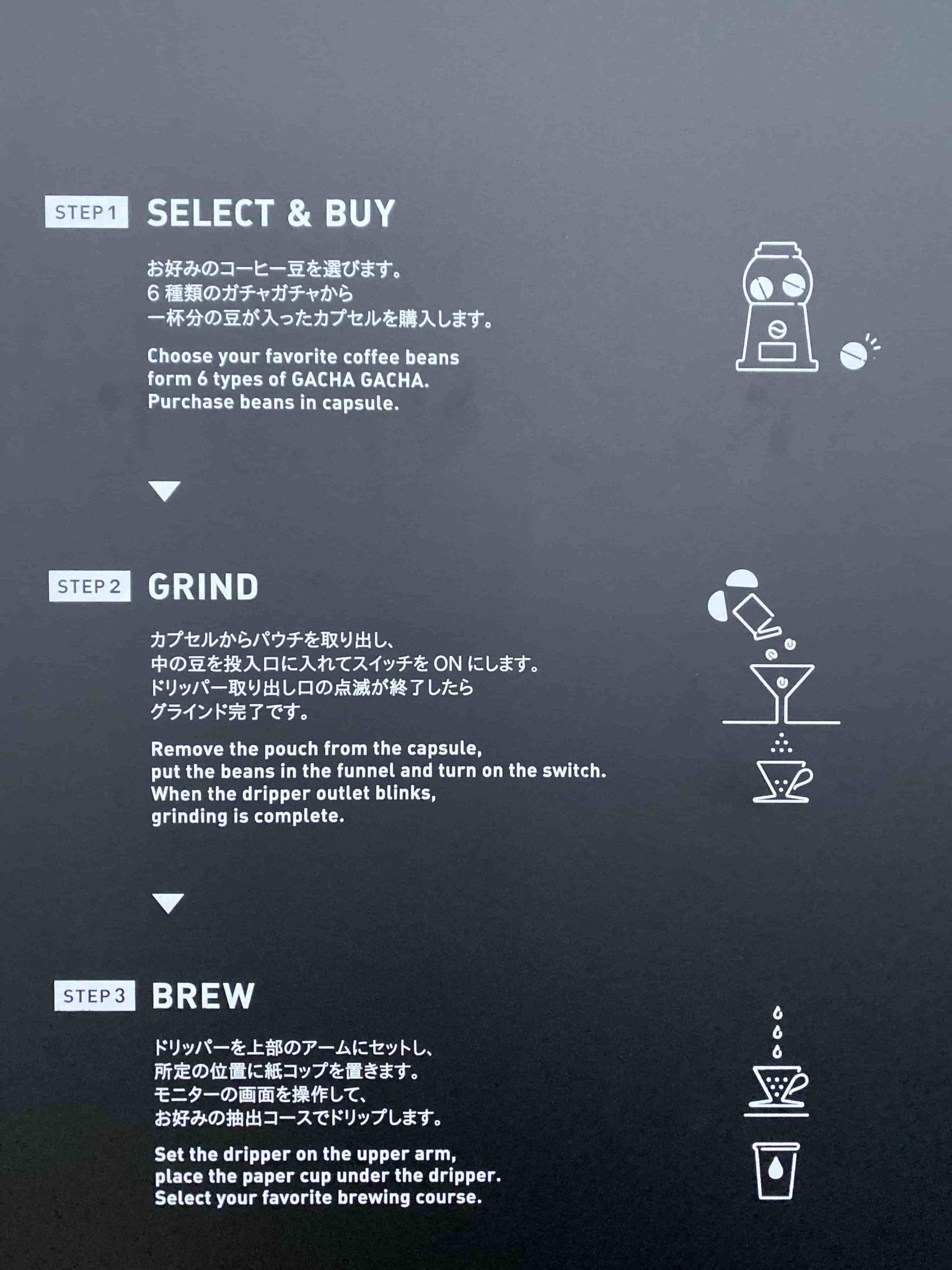 Of dit self-service koffie concept waar alles tot in de puntjes wordt gecommuniceerd. Er is namelijk geen service medewerker.